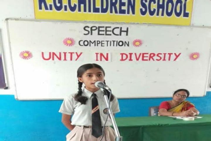Kg Children School-Speech Competition