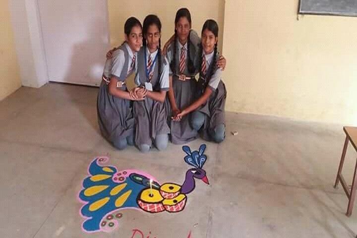 Krishna Public School-Rangoli