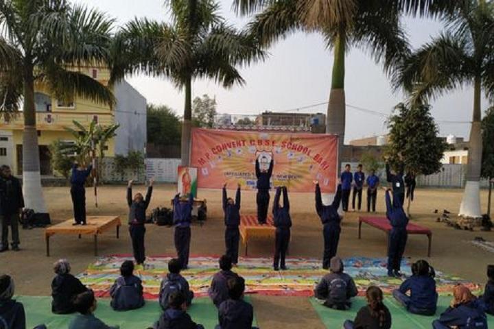 M P Convent School-Yoga Day