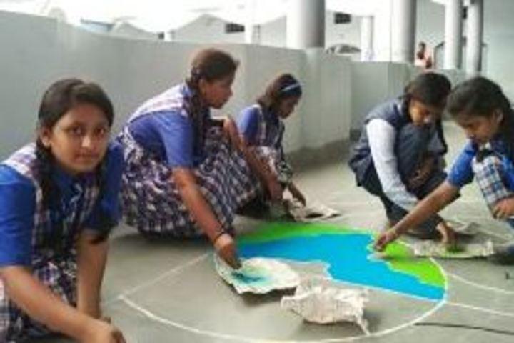 Nirmala English Medium School-Rangoli Compitition