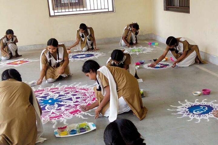 Pratibhasthali Gyanoday Vidiyapeeth-Rangoli-Competition