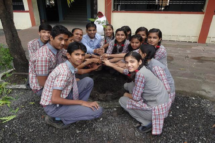 Providence Convent School-Planting trees