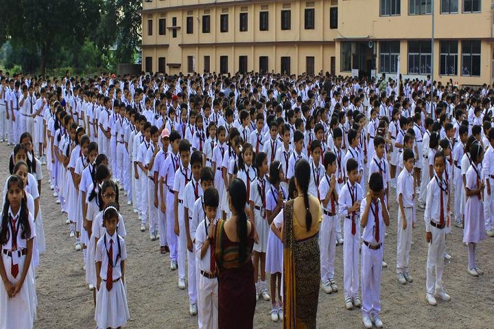 Pushpa English Medium School-Morning Assembly