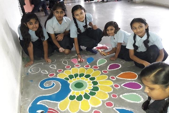 Pushpdeep International School-Rangoli