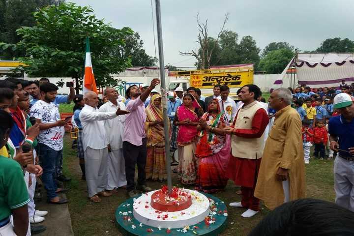Rajiv Gandhi International Public School-Flag Hoisting