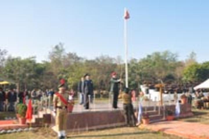 Sainik School, Rewa - Flag Hosting
