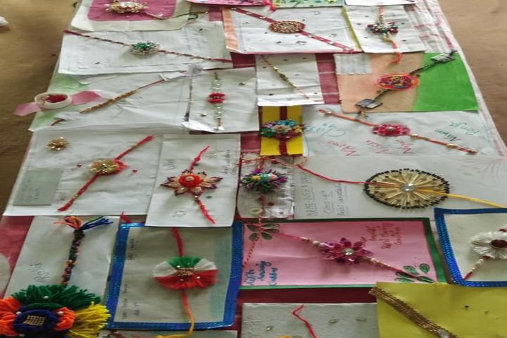 Shri Ramji Lal Senior Secondary School-Rakhi Making Compitition