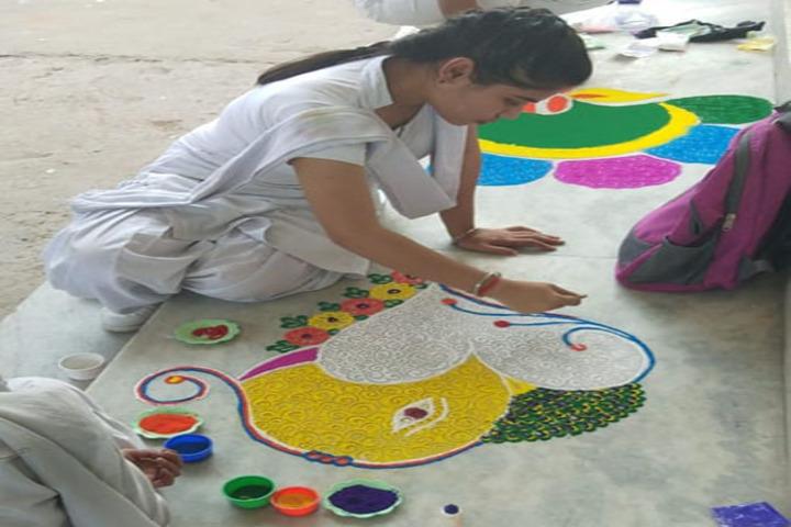 Shri Ramji Lal Senior Secondary School-Rangoli Compitition