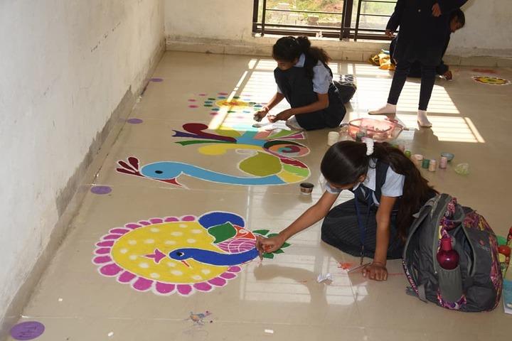 Springdales Senior Secondary School-Rangoli Competition