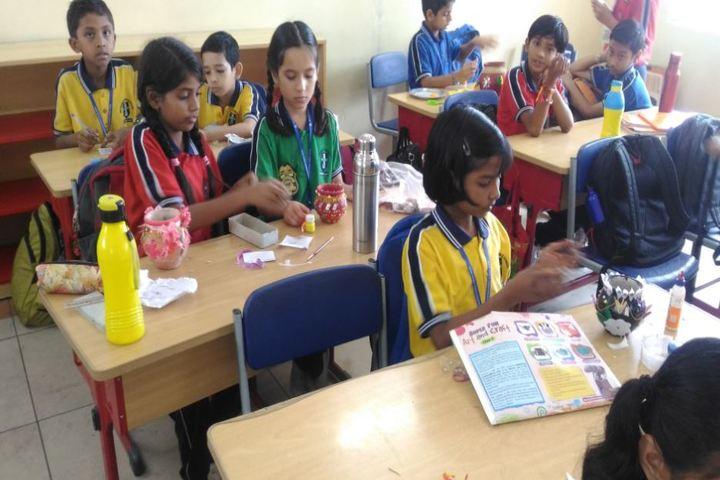 Sri Aurobindo Public School-Pot Decoration