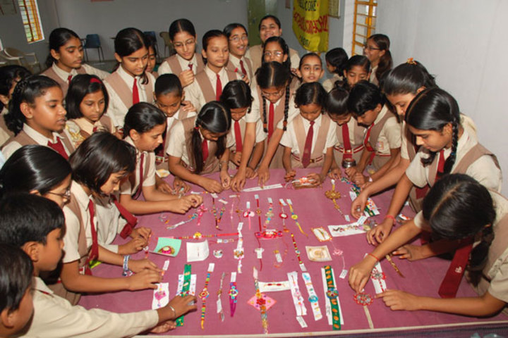 St Pauls Convent School-Rakhi Making Compitition