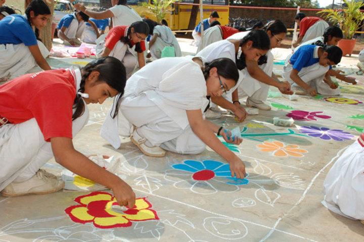 St Pauls Convent School-Rangoli Compitition