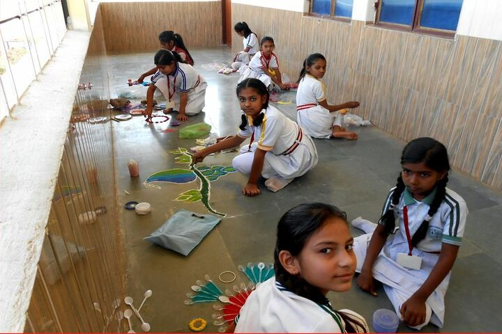 St Thomas Convent Secondary School-Rangoli Compitition
