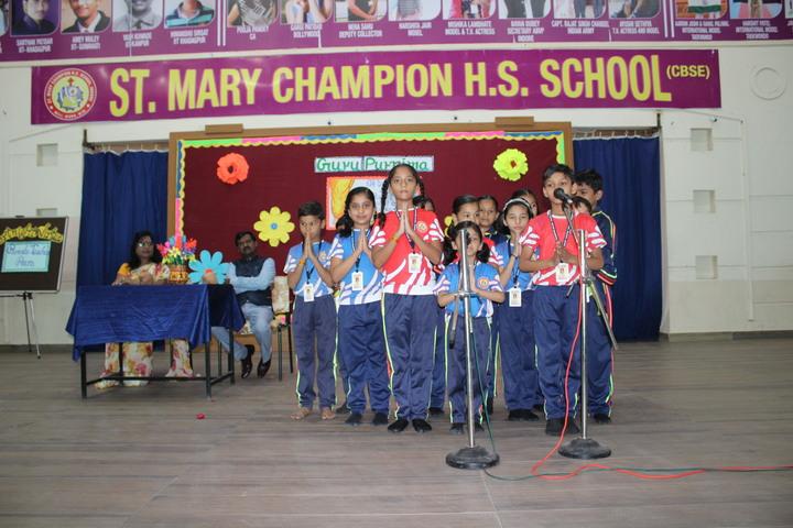 St Mary Champion Higher Secondary School-Prayer time