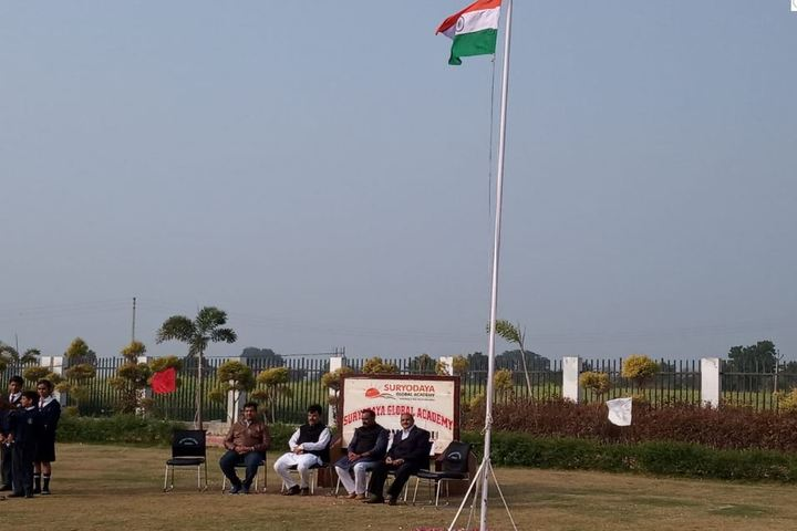Suryodaya Global Academy-Flag Hoisting