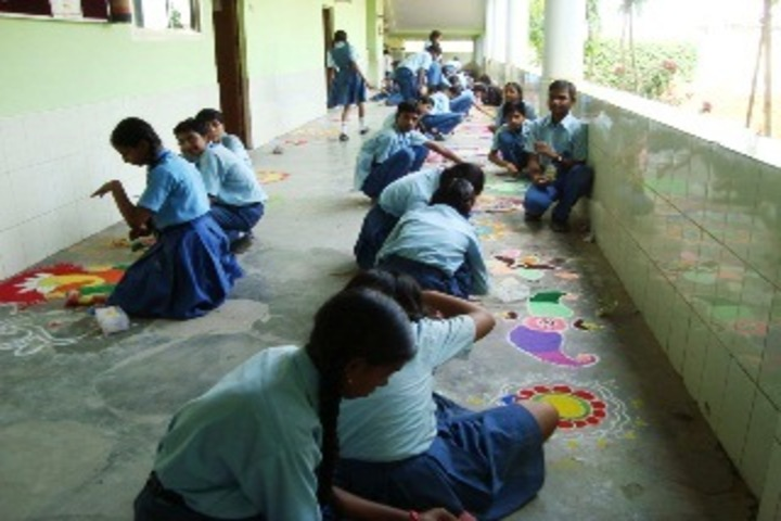 Swami Vivekananda Academy-Rangoli Competition