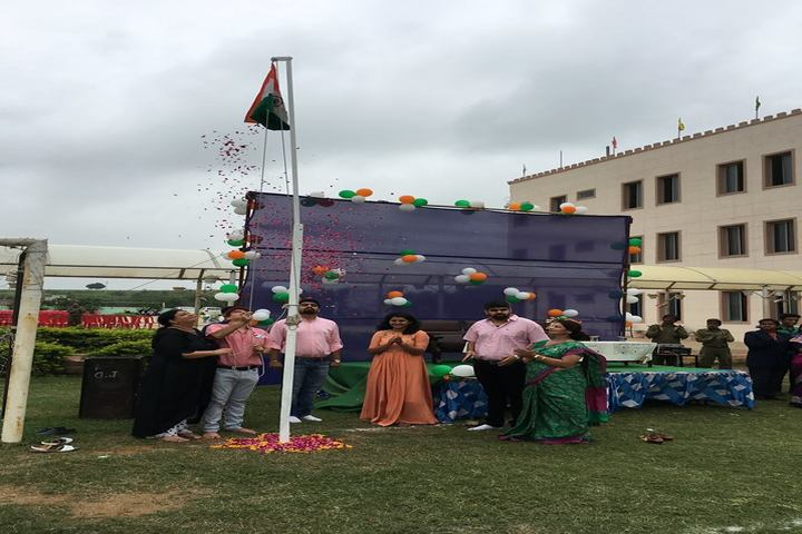 Vidya Bhavan Public School-Flag Hoisting