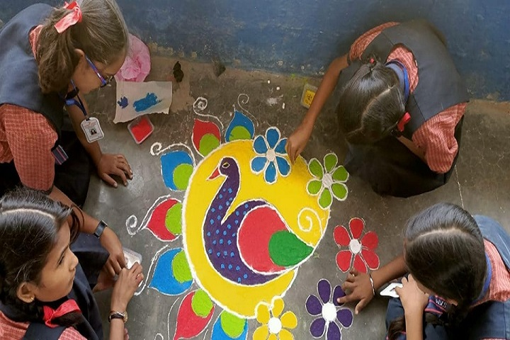 Wisdom Valley Secondary School Rewa-Rangoli competitions