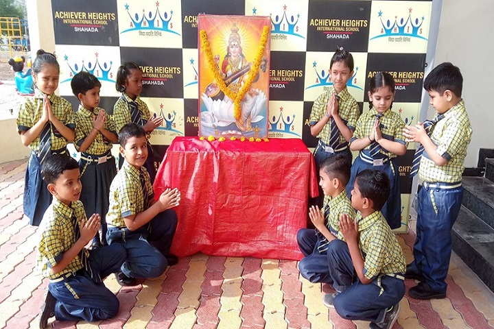 Achievers Heights International School-Saraswati Pooja