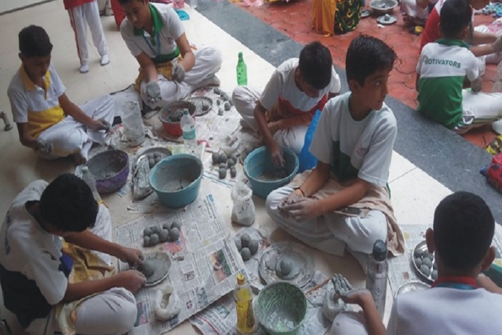 Achievers Heights International School-Making Ganesh