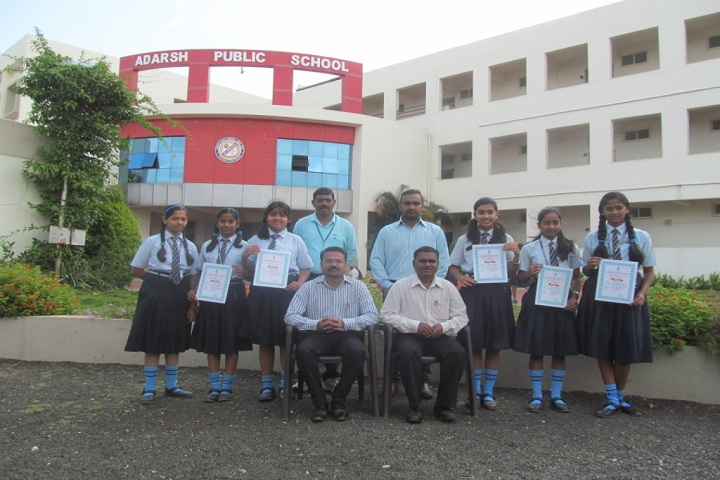 Adarsh Public School-Campus-View with students