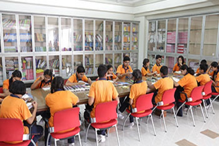 Amrishbhai R Patel School-Library with reading room