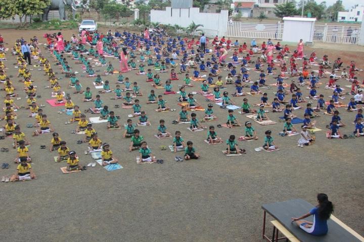Annasaheb Balasaheb Chakote English School-Yoga Day