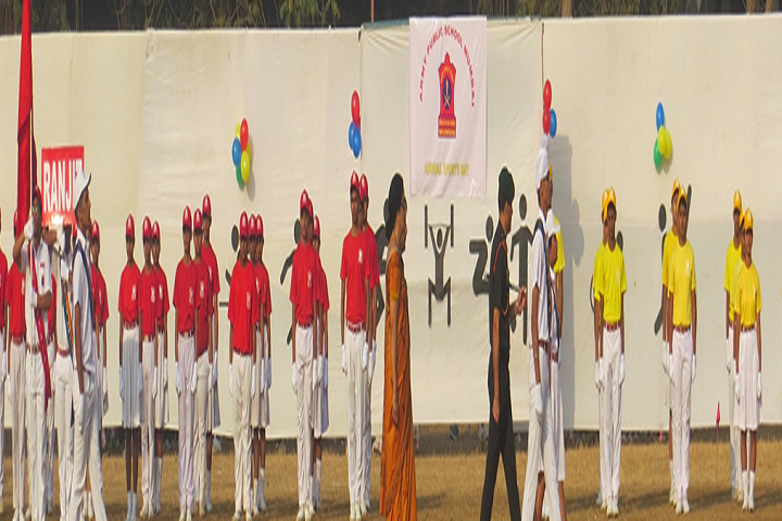 Army Public School-Inspection Of the March Past Squad