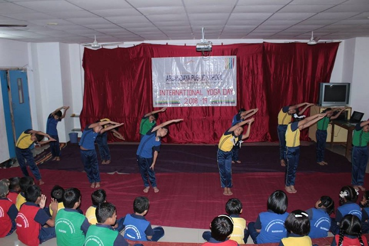 Arunodaya Public SchooL-International Yoga Day
