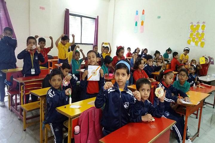 Blossom Public School-Rakhi Making Activity
