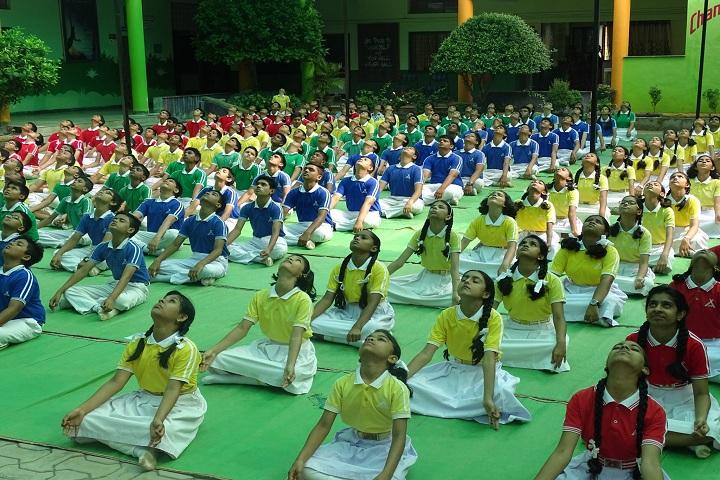 Chanda Public School-International Yoga Day