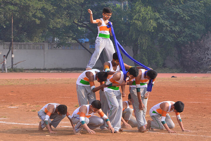 City International School-Human Pyramid