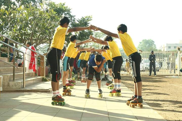 Gems English Medium School-Skating Activity