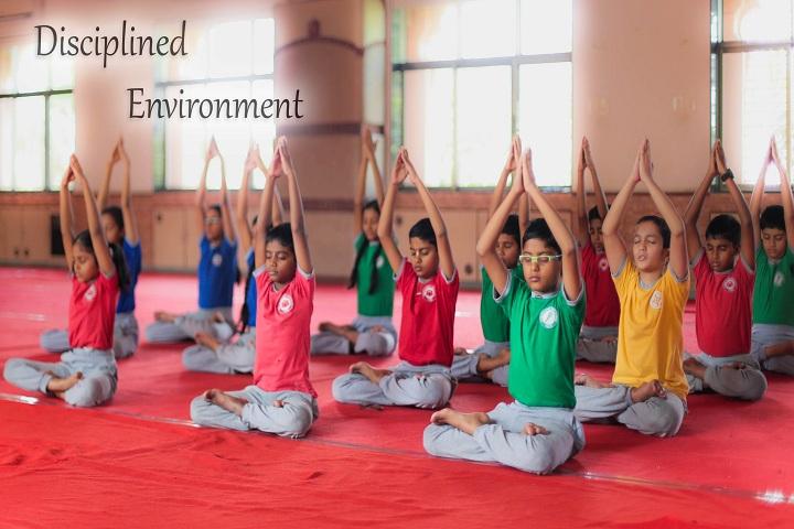 Gopals Garden High School-Yoga Activity