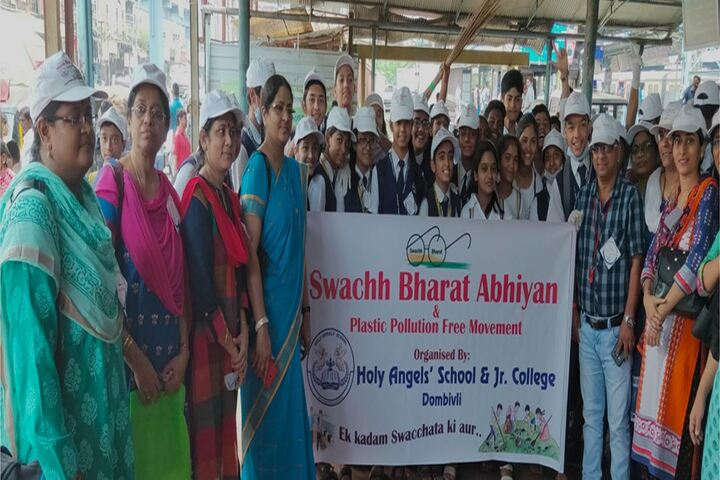 Holy Angels School and Junior College-Swach Bharath