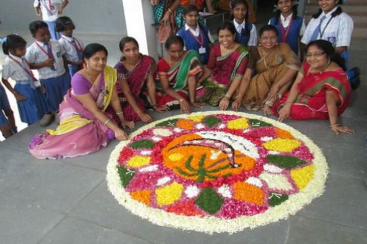 Holy Family Convent School-Rangoli