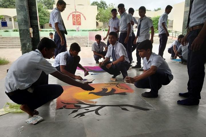 Jawahar Navodaya Vidyalaya-Rangoli Making
