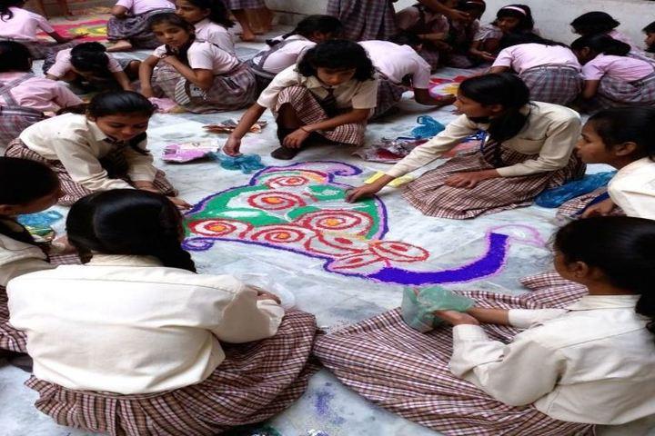 D K Carmel Residential High School-Rangoli