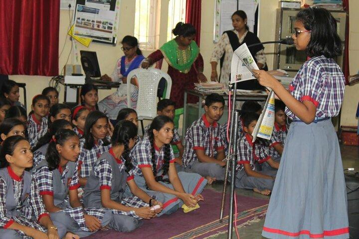 Kendriya Vidyalaya-News Paper Reading