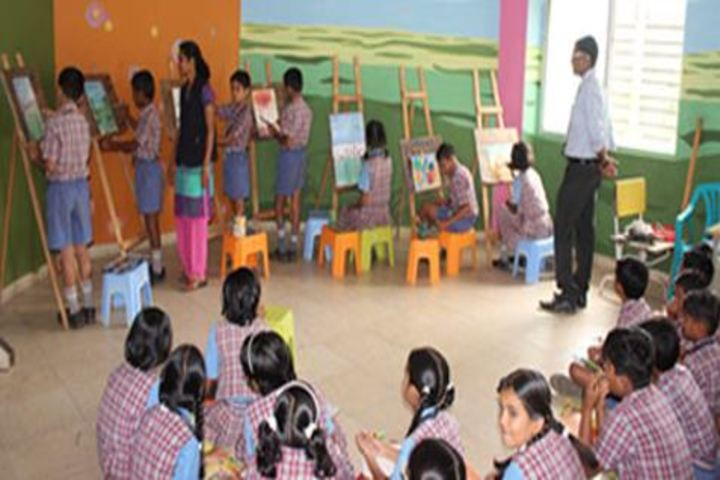 Late Mrs Housabai Jaypal Magdum Public School-Painting Activity