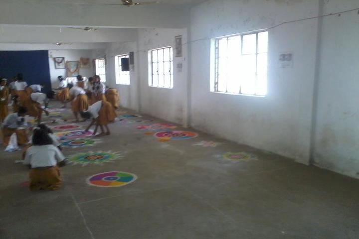 Maharishi Vidya Mandir-Rangoli Competition