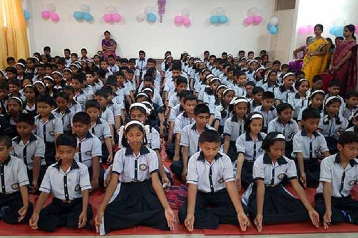 Mamasaheb Khandge English Medium School-Yoga day