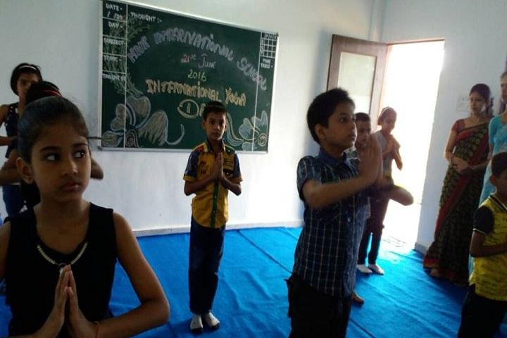 Mnr International School-Yoga Day