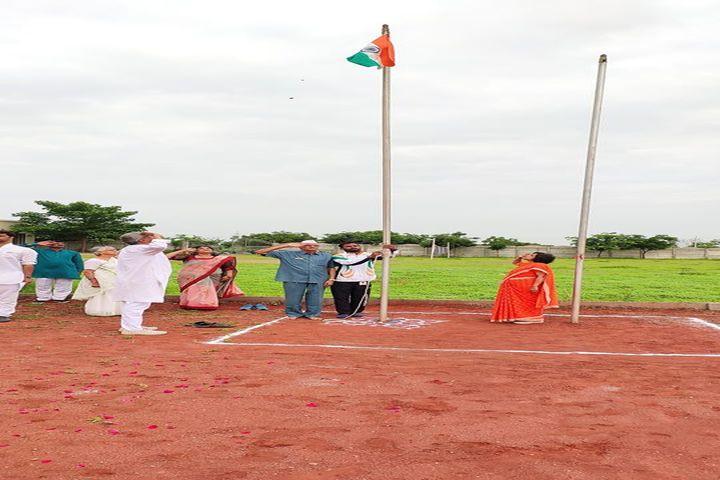 N.V. Chinmaya Vidyalaya-Flag Hoisting