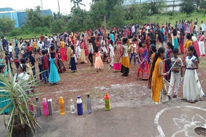Navnirman High English Medium School-Rangoli competitions