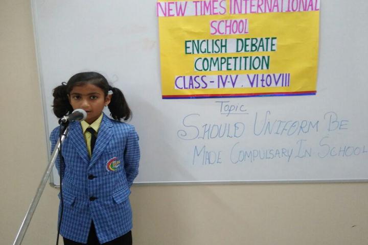 New Times International School-English Debate Competition