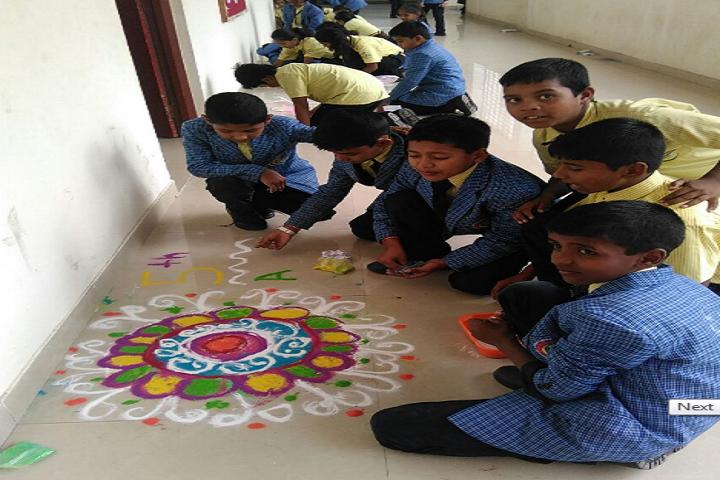 New Times International School-Rangoli