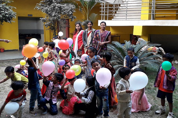 Nirmal Bright Future School-Balloon Day