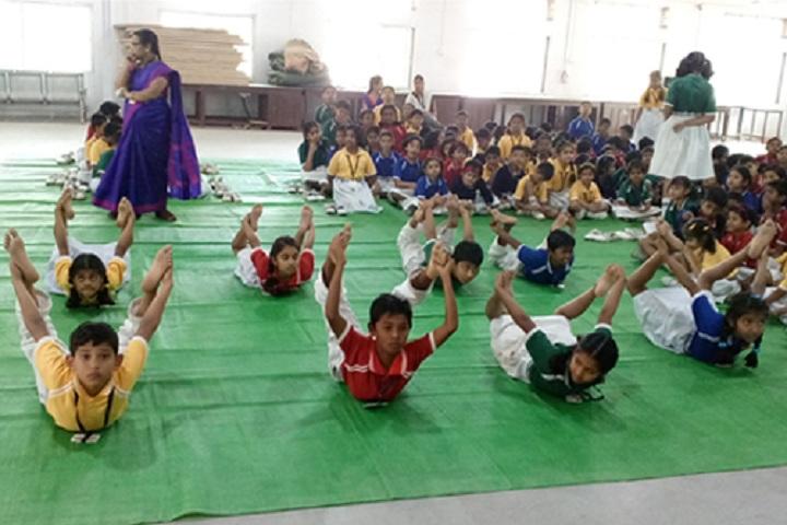 Orchid Public School-Yoga-Day