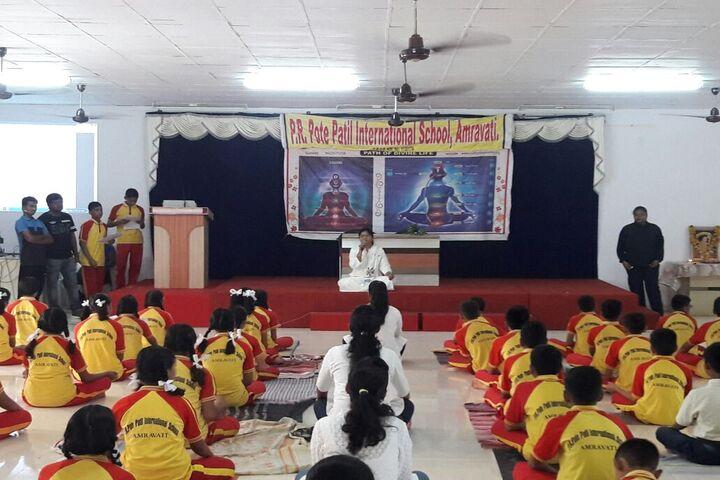 P R Pote Patil International School-International Yoga Day